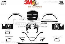 Тюнинг торпедо Fiat Doblo 2008-2012, 26 элементов