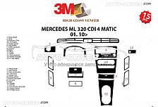 Декор торпеди Мерседес-Бенц ML W164 2010-2012 (наклейки)