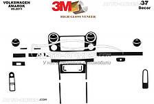Накладки на панель для VolksWagen Amarok 2011-2016, 37 элем