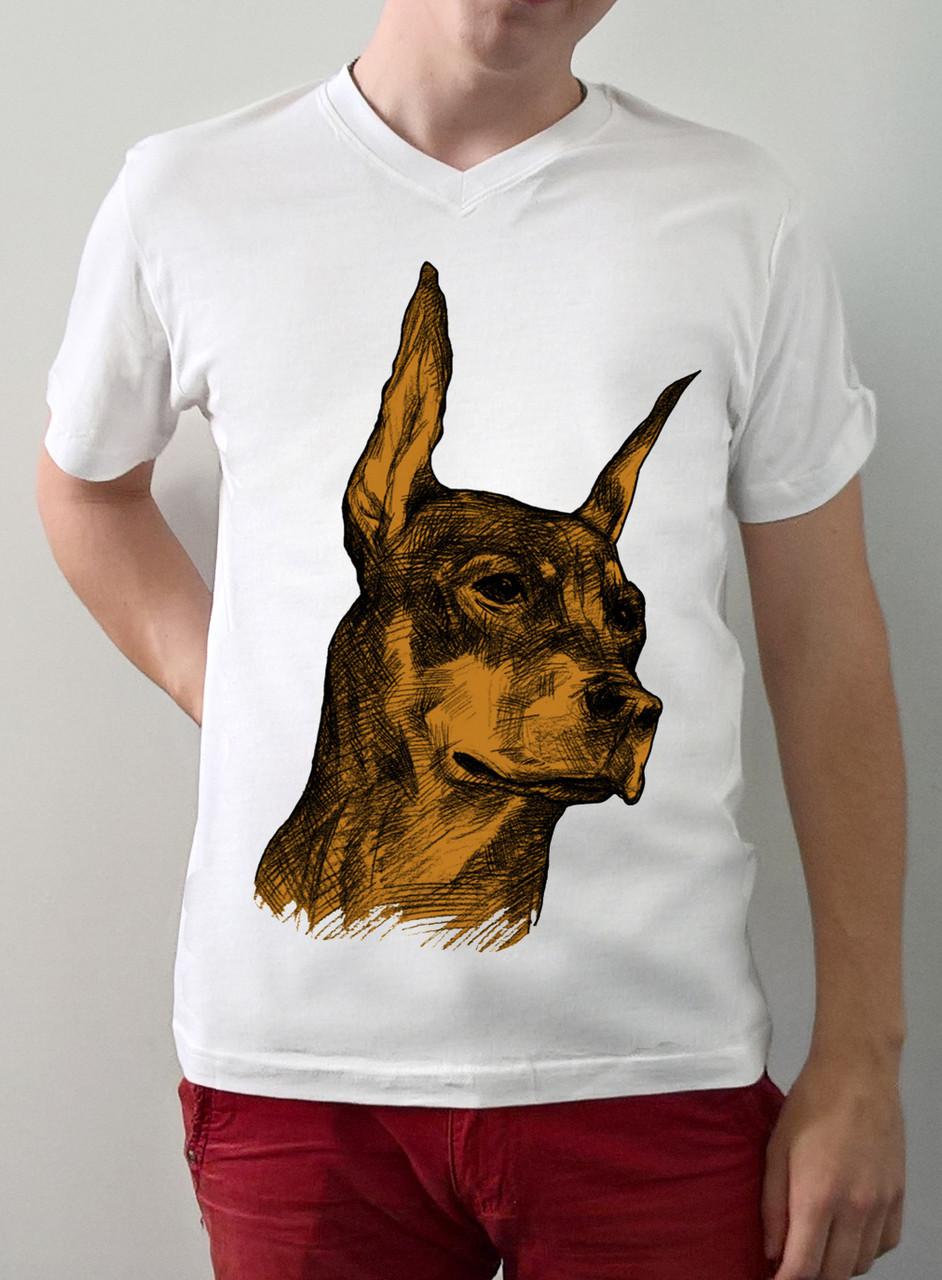 """Мужская футболка """"Доберман"""""""