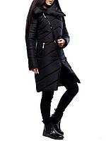 """Стильная женская куртка """"Лаос Блек"""" на зиму"""