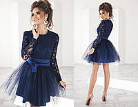 Шикарное вечернее  платье  пышное с фатиновой юбкой