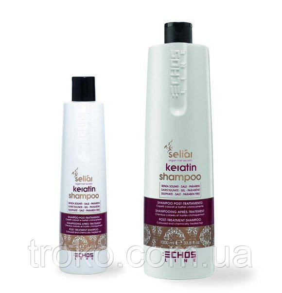 Кератиновый шампунь Echosline Seliar Keratin Shampoo 1000 мл