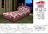 Кровать Барбара (пруж) 1.40 м., 1 категория ткани