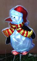 Светящяеся панно Пингвин, 15 минилампочек LED
