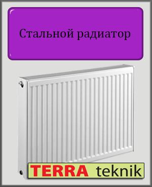 Стальной радиатор 22 тип 300х1800 TERRA teknik (боковое подключение)