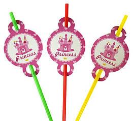 """Трубочки для напоїв """"Princess"""", 8 штук."""