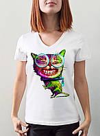 """Женская футболка """"Психокот"""""""