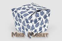 """Коробка """"Япония"""" Новый год, голубая"""