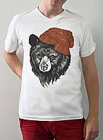"""Мужская футболка """"Медведь в шапке"""""""