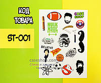 "Стикеры, дизайн ""ST-001"" (19 наклеек), фото 1"