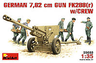 Немецкая 7,62мм пушка Fk288[r] с расчетом 1.35 MiniART 35033