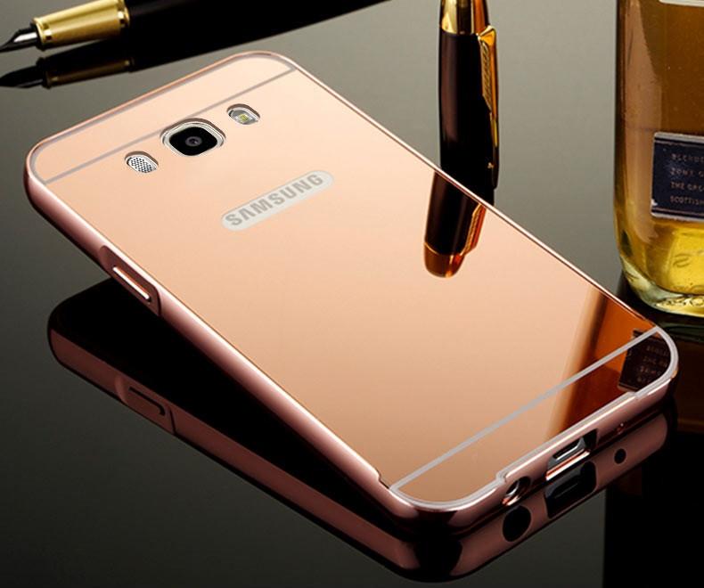 Чехол для Galaxy J5 2016 / Samsung J510 зеркальный розовый