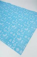 Подарочная бумага (упаковочная) синяя baby для мальчиков