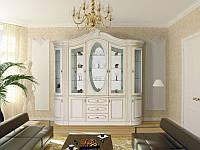 Мебель для гостиной Цезарь 3, сервант - буфет в гостинную комнату готовая, 2460*2420*500