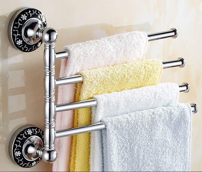Вешалка для ванной комнаты или на кухню настенная четырех уровневая 0255