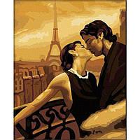 Картина по номерам на холсте Люди. Мечтами в Париже 40*50см, КН045