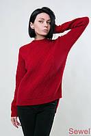 Теплый женский вязаный свитер