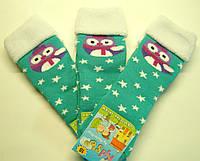 Теплые цветные носки новогодние зеленого цвета