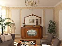 Буфет большой Цезарь с зеркалом, Мебель для гостиной Цезарь тумба 1935*980*490