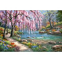 Картина по номерам на холсте Пейзаж. Волшебный сад 40х50см, КН2811