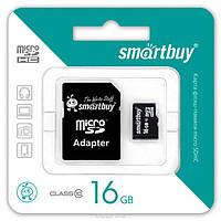 Карта флеш-памяти 16 Gb Class 10 Smart Buy micro SDHC