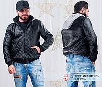 Курточка мужская, ткань: основа трикотаж-кожзам поверхность подкладка на синтепоне 80, РОЛег № 1004