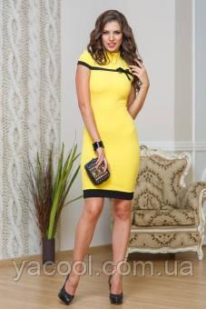 Платье желтое бирюзовое 54 56 размер