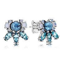 Серьги-пусеты из серебра Pandora, 290731NMBMX