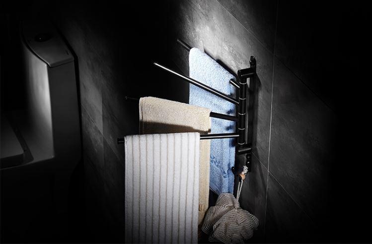 Вешалка для полотенец настенная четырехуровневая для ванной или на кухню