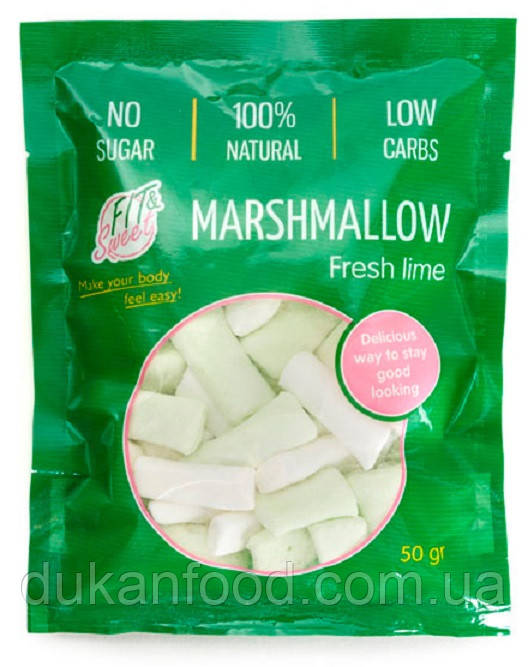 "Маршмеллоу ""Fit&Sweet"" ЛИМОННЫЙ, без сахара"
