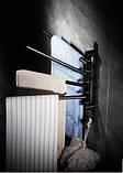 Вешалка для полотенец настенная четырехуровневая для ванной или на кухню, фото 2