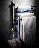 Вешалка для полотенец настенная четырехуровневая для ванной или на кухню, фото 3