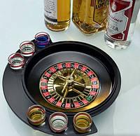Настольные игры - ал-ко рулетка с рюмками 6 рюмок, фото 1