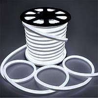 Светодиодный неон SL FLEX ( Неон Флекс, FlexNeon) 8*16 мм. 120-2835 220V Белый