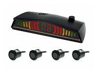 Парктроник 4 датчика Cyclon SE-4F LED дисплей. Датчики d=18.5 мм черные