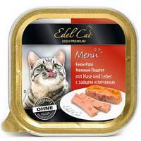 Паштет для кошек Edel Cat Заяц и печень 100 гр.