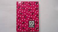 """Блокнот """"Go Girl"""" тв.обл,лак,мат,А5,96 лис,клетка,поля Interdruk в твердом переплете .Блокнот для нотаток """"Go"""