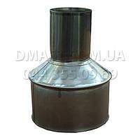 Переходник (Редукция) для дымохода ф150 из нержавеющей стали