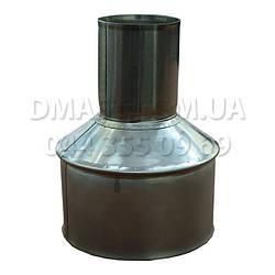 Переходник (Редукция) для дымохода ф100 из нержавеющей стали