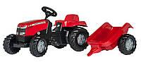 Трактор педальный Kid Masey Ferguson c прицепом Rolly Toys красный