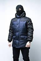 Зимняя синяя мужская парка Bizon от бренда ТУР