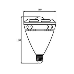 "EUROLAMP LED Лампа надпотужна ""око"" 60W E40 6500K, фото 2"