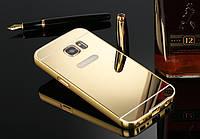 Чехол для Samsung Galaxy S6 зеркальный золотистый