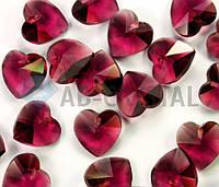Хрустальные подвески Сердце 14 мм (1шт.) Amethyst