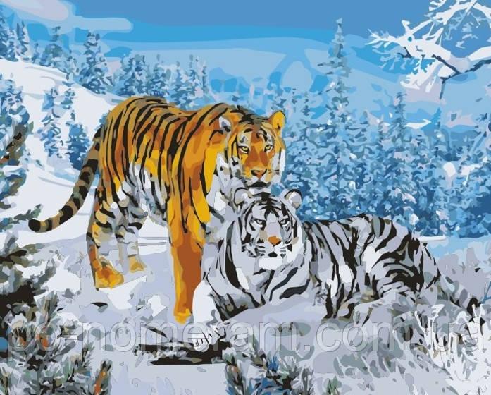 Раскраска по номерам Идейка Два тигра (KH194) 40 х 50 см ...