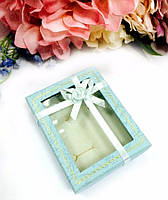 Коробочка подарочная голубая 10х8