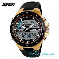 Спортивные часы  Skmei Sport Dive (1016) черные с золотом