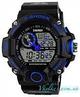 Спортивные часы  Skmei S-Shock черные с синим, фото 1