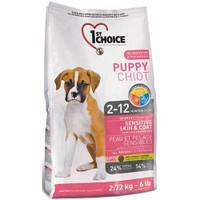 1st Choice (Фест Чойс) PUPPY SENSITIVE SKIN & COAT - корм для щенков с чувствительной кожей и шерстью, 0.35кг